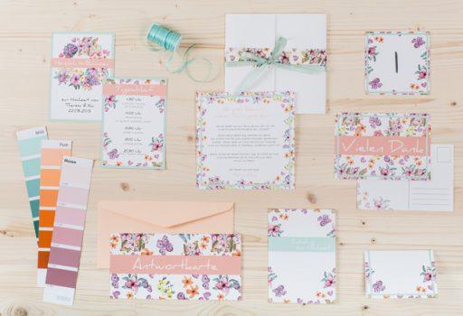 Zauberhafte Papeterie für Eure Hochzeit: Einladungen, Tisch- und Menükarten