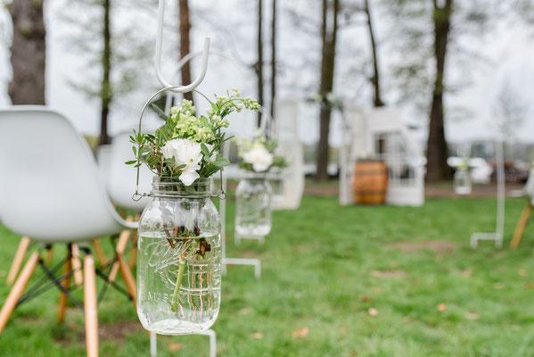DIY Dekoration für die Bestuhlung Eurer Hochzeitszeremonie