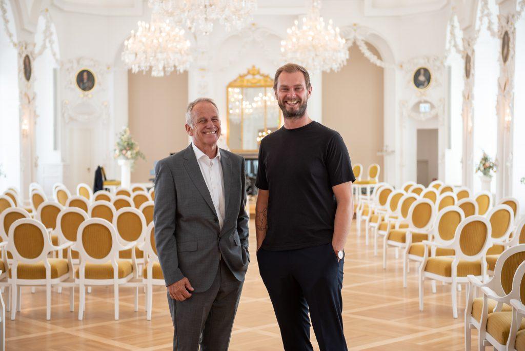 Trauredner Jens-Uwe Jessen und Johann-Jakob Wulf