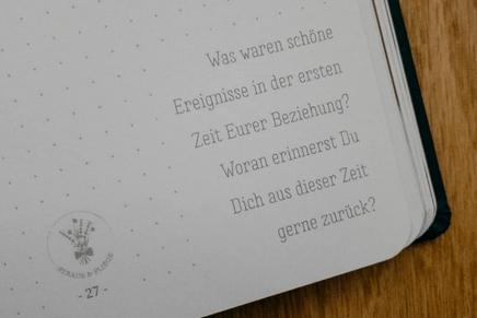 Das Strauß & Fliege Notizbuch für Eure freie Trauung