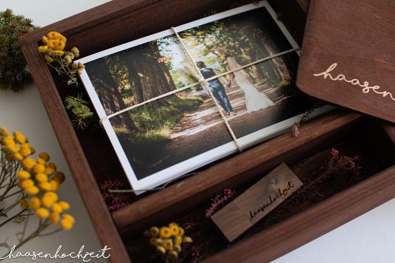 Wunderschöne Erinnerung an die Hochzeitsfeier Fotoalbum Schatztruhe