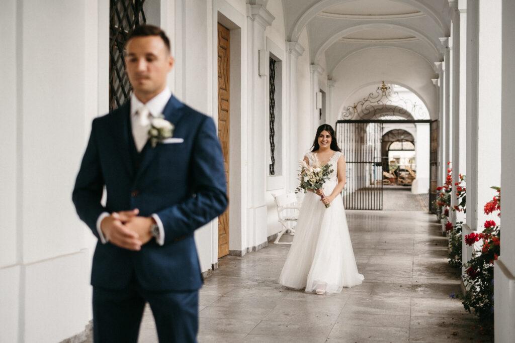 Forst Look Braut und Bräutigam Hochzeit